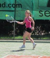 Franziska Schwärzel vom TCI zeigte in beiden Matches starke Leistungen